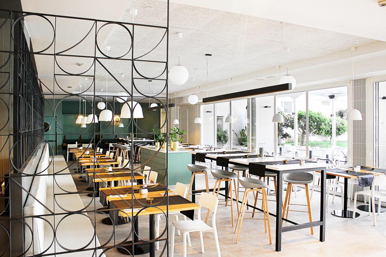Hotellets renoverade och trivsamma restaurang