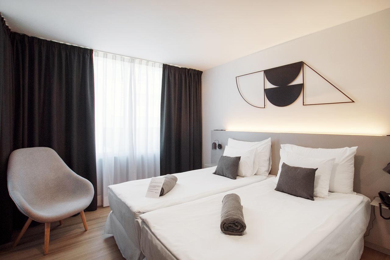 Sovrum i Junior Suite och Prime Lounge Suite
