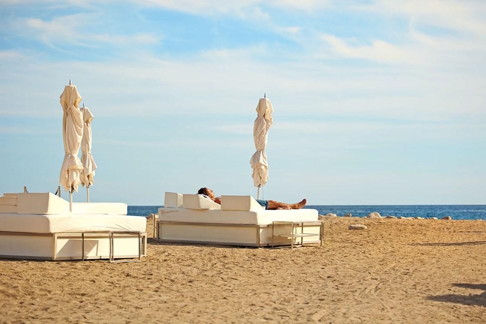 Blue Marlin Ibiza, vid stranden Platja les Jondal i närheten av Ibiza stad
