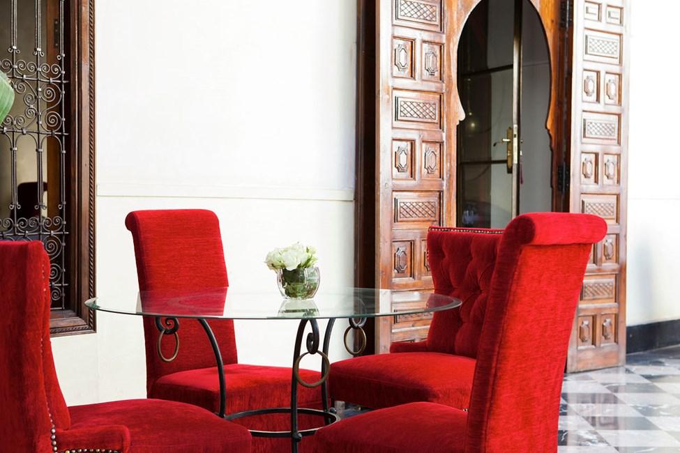 Restaurangen Riad Lotus Privilege.