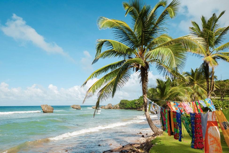 Stranden St Martins Bay  på Barbados sydöstra kust.