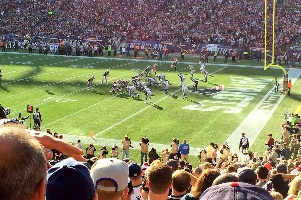 På Gillette Stadium utanför Boston spelar New England Patriots sina hemmamatcher