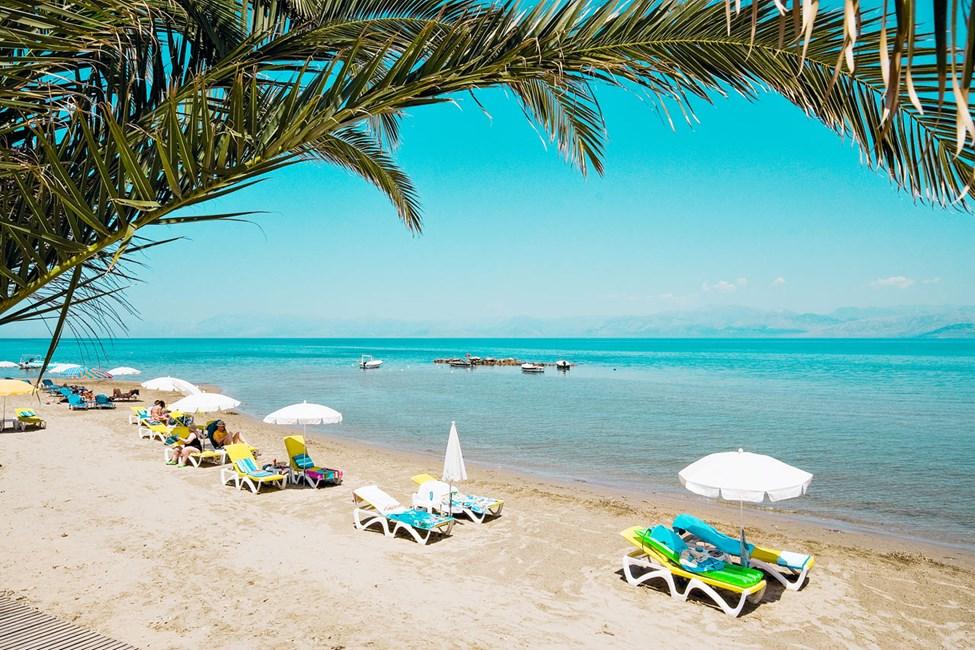 Den barnvänliga stranden i Roda