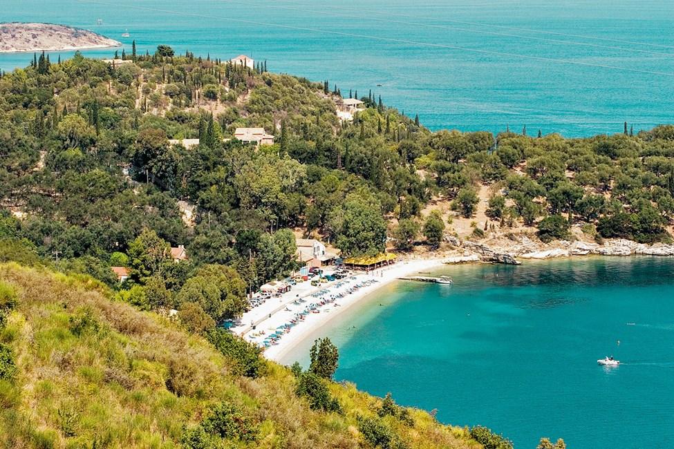 Den natursköna stranden i Kalami ligger i en liten bukt