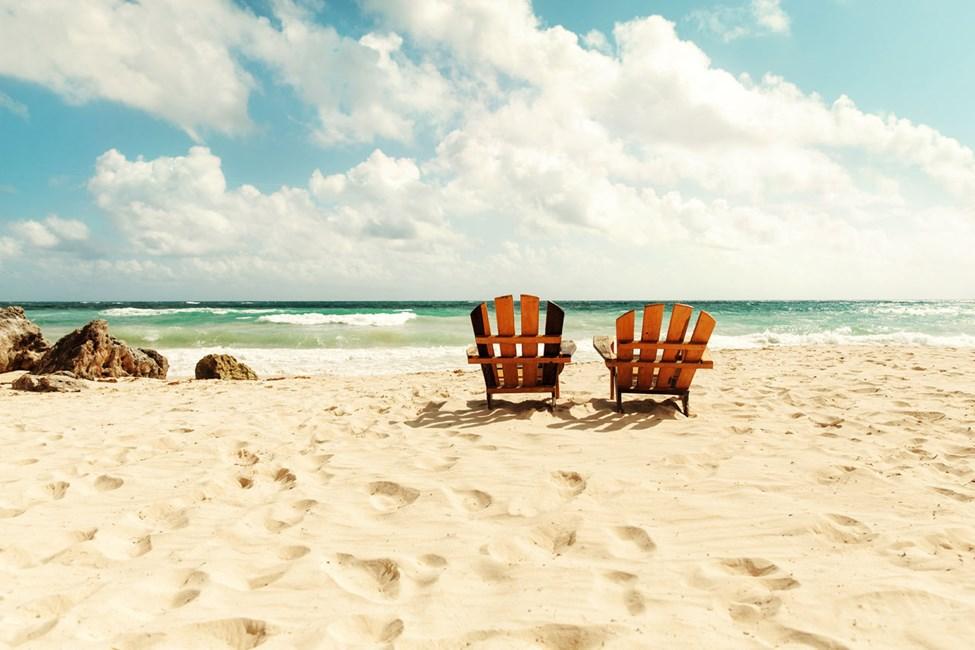 Tulum bjuder på tillbakalutat strandliv med sand mellan tårna