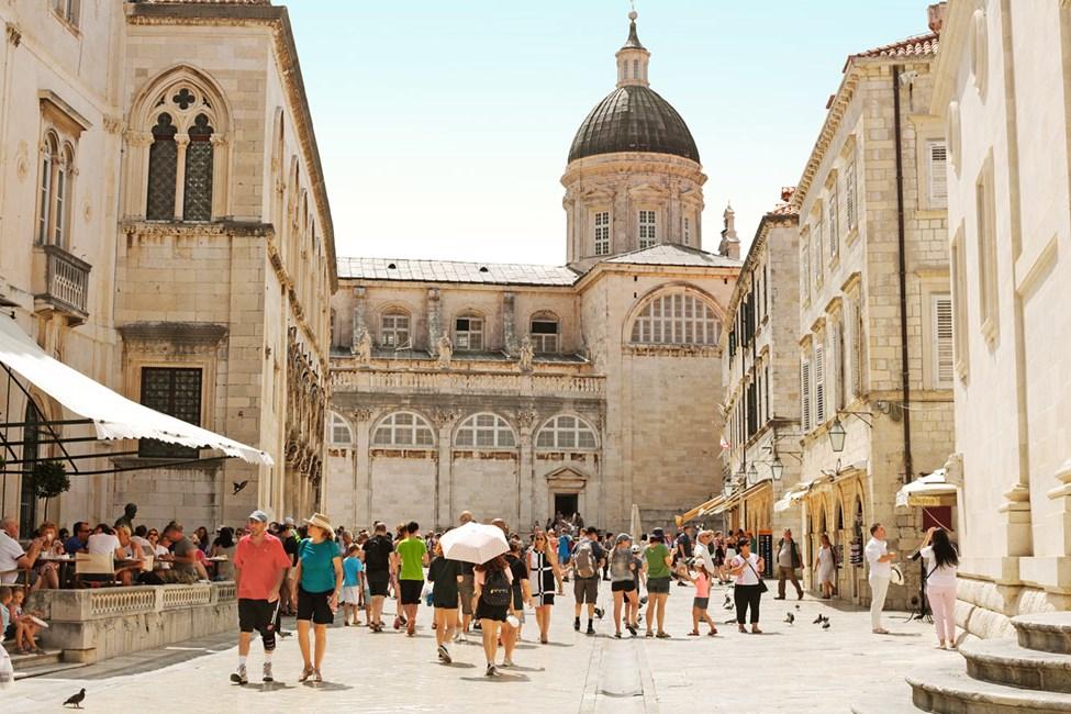 Innanför Dubrovniks stadsmurar
