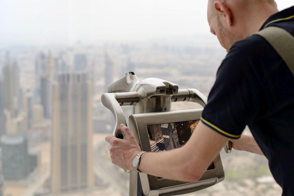 Utsikt från Burj Khalifa, Downtown Dubai