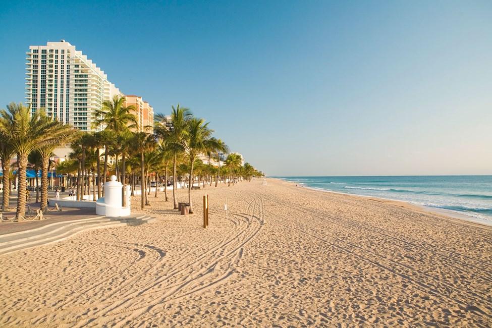 Stranden i Fort Lauderdale