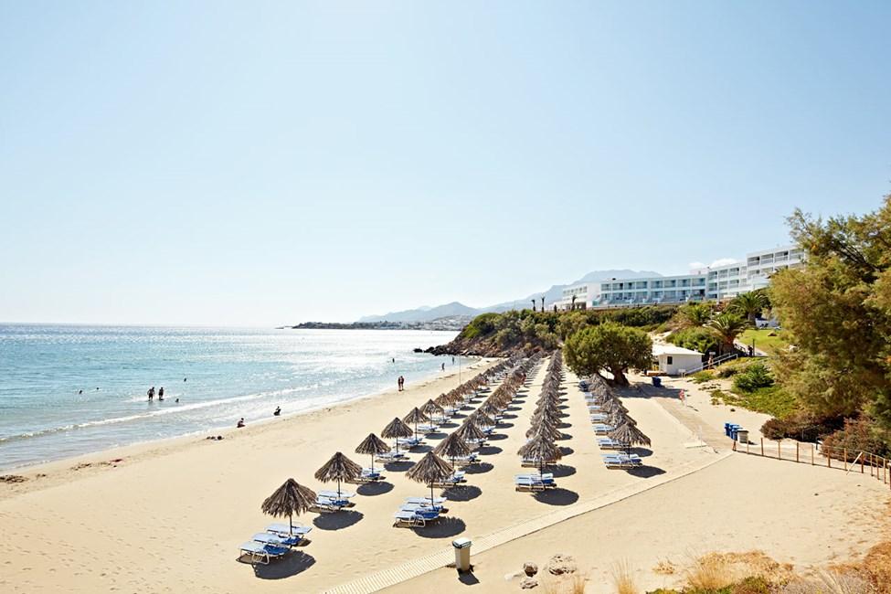 Stranden nedanför Sunwing Makrigialos Beach