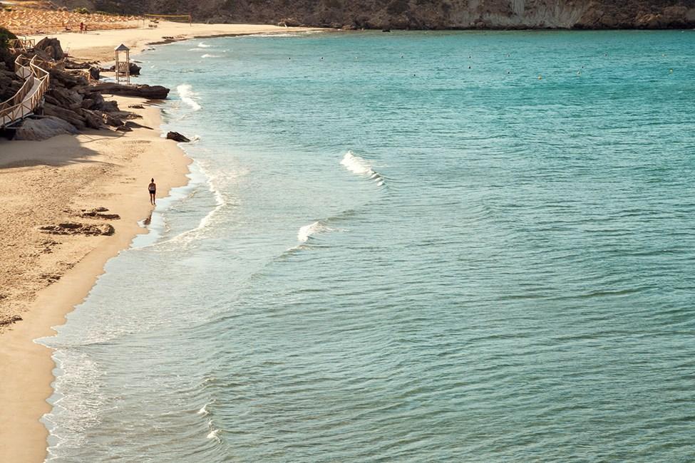 Stranden nedanför Ocean Beach Club