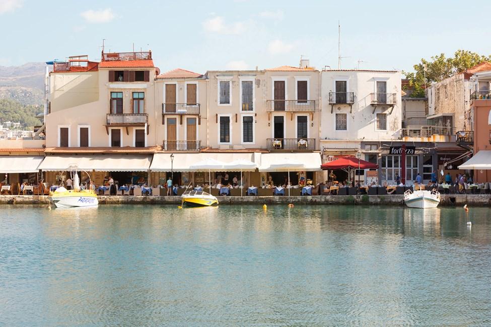 Den gamla hamnen i Rethymnon