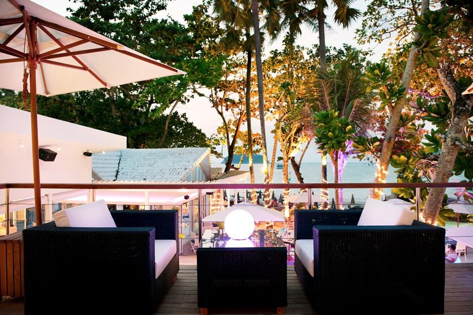 Hotell Boathouse egen beach club Rekata.