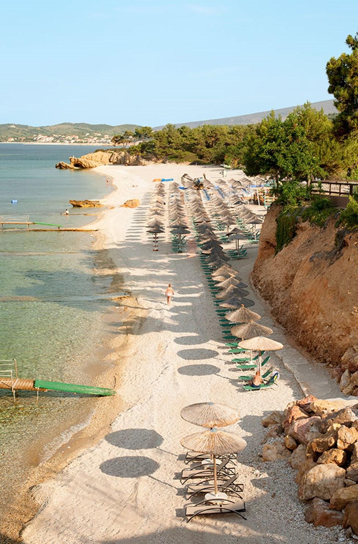 Stranden nedanför Alexandra Beach