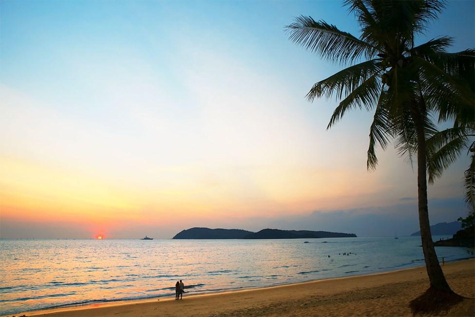 Stranden i Pantai Tengah