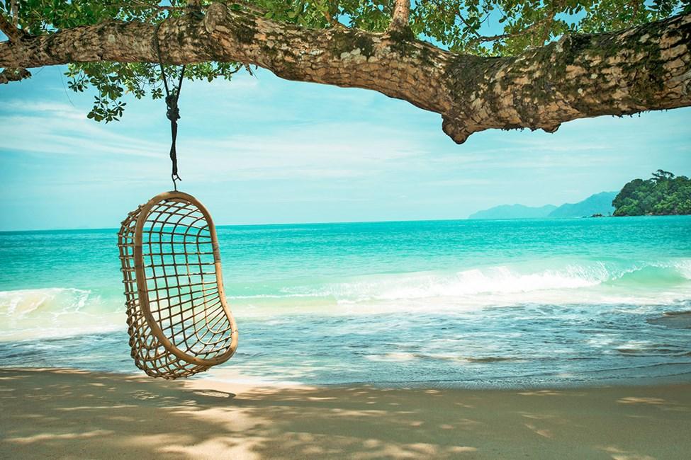 Stranden i Teluk Datai