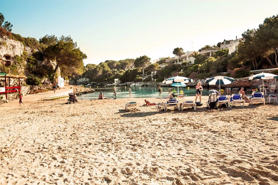 Cala en Blanes, nära Ciutadella