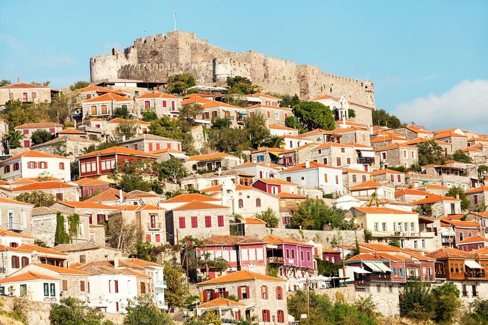 Molivos kännetecken, den bysantinska fästningen