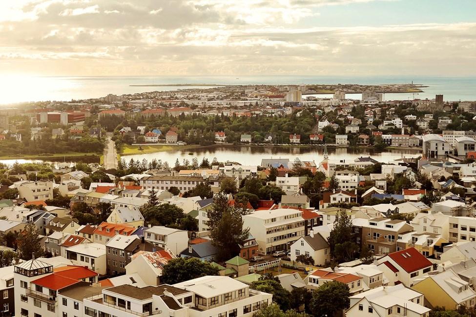 Utsikt över Reykjavik