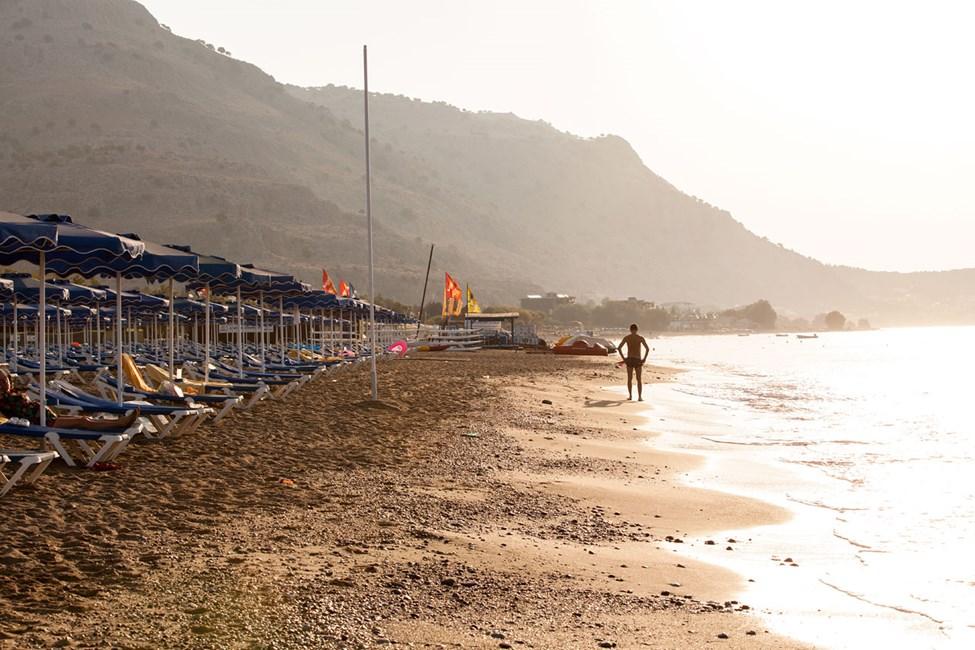 Stranden nedanför Lindos Princess