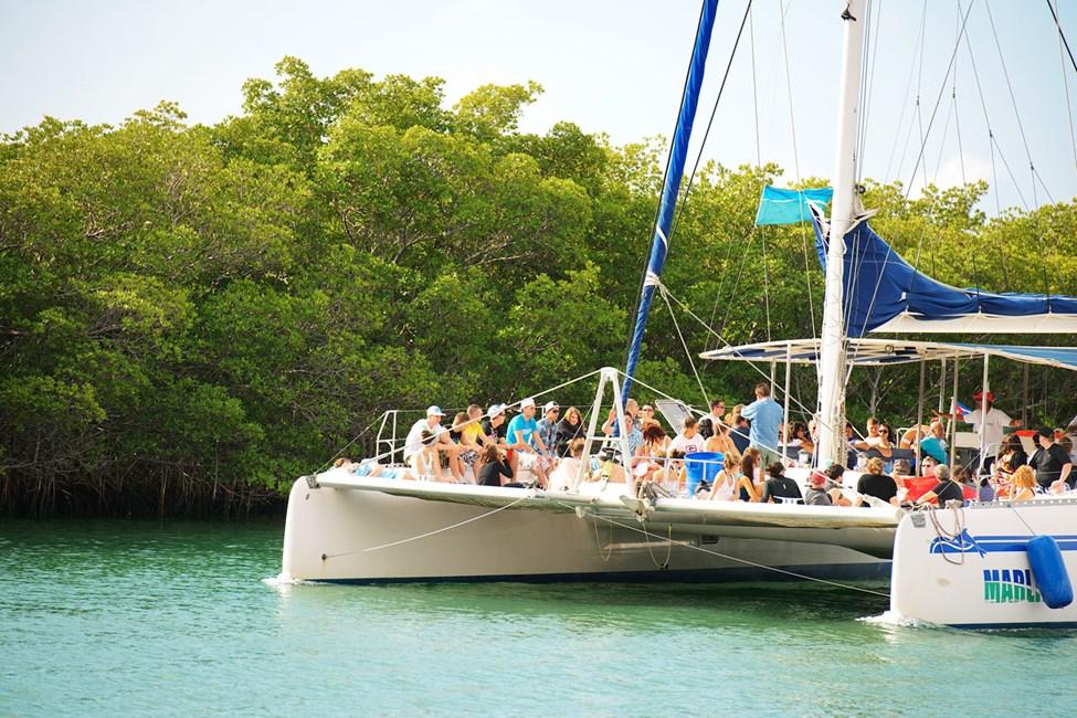 Detta är vår mest populära båtutflykt - följ med ut på havet i en katamaran