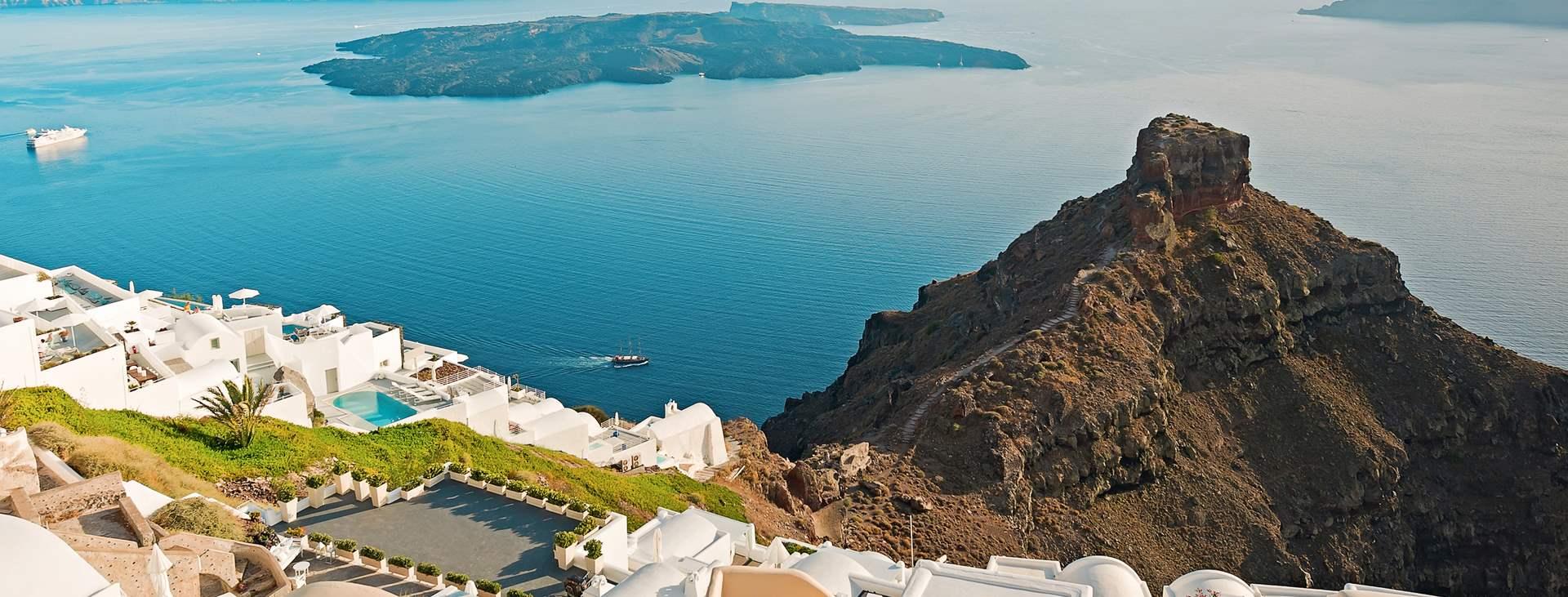 Resor till Imerovigli på Santorini i Grekland