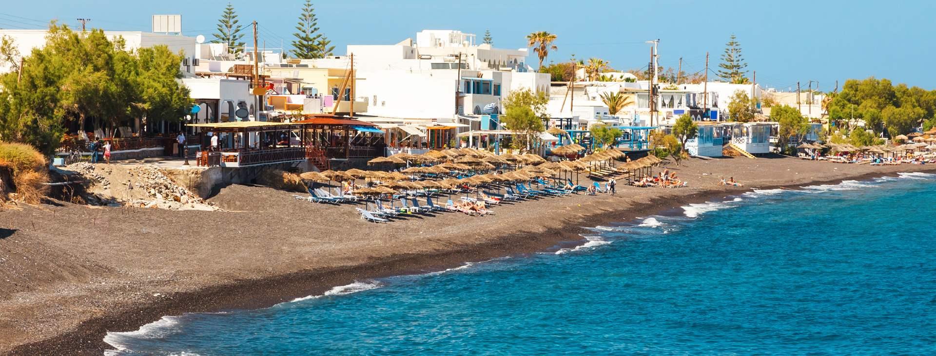 Resor till Kamari på Santorini i Grekland