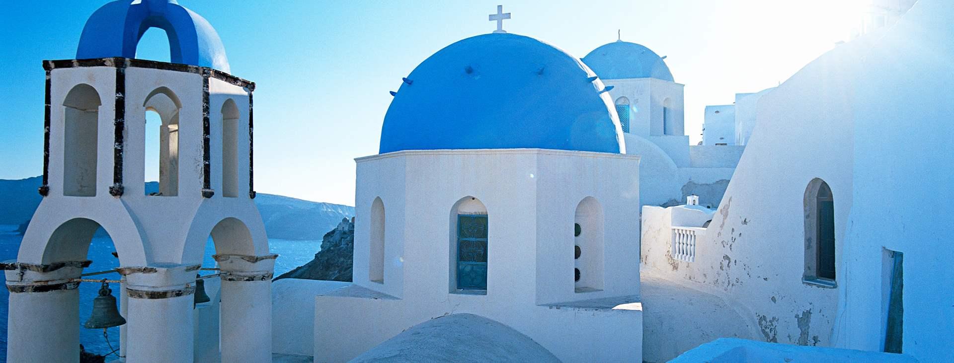 Resor till Thira på Santorini i Grekland