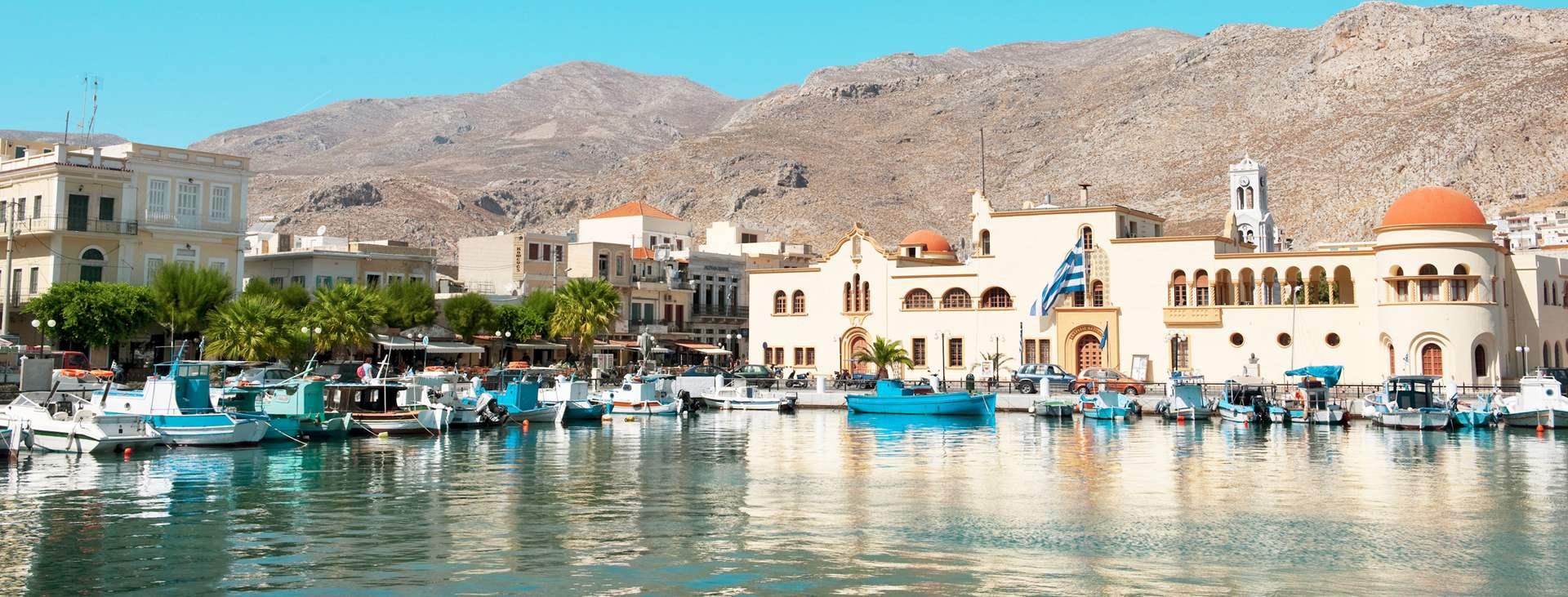 Resor till Pothia på Kalymnos i Grekland