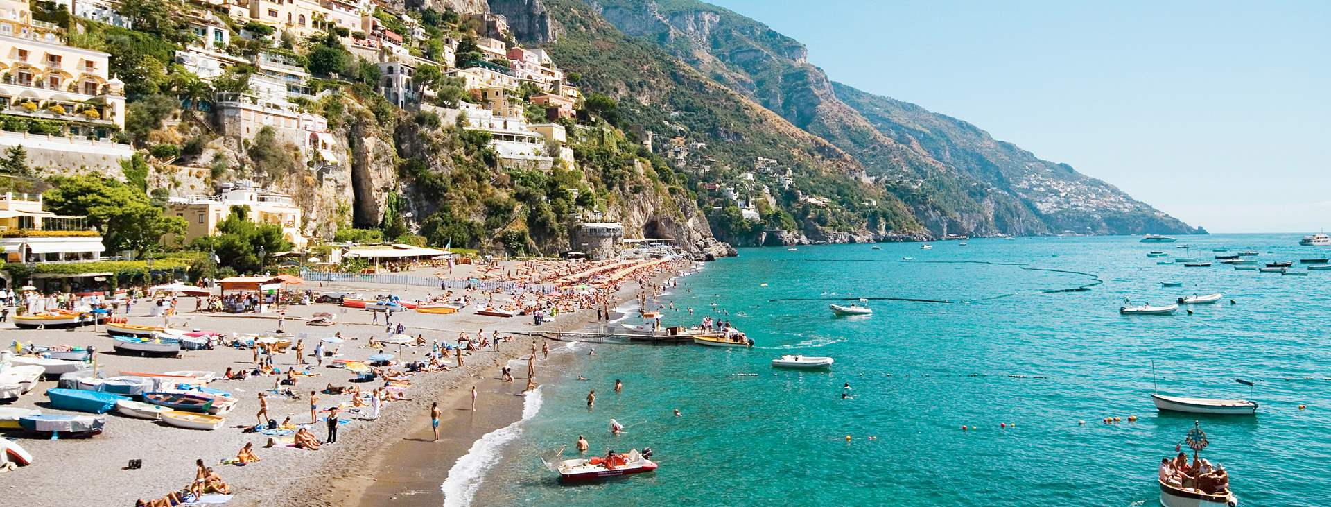 Resor till Positano på Amalfikusten i Italien