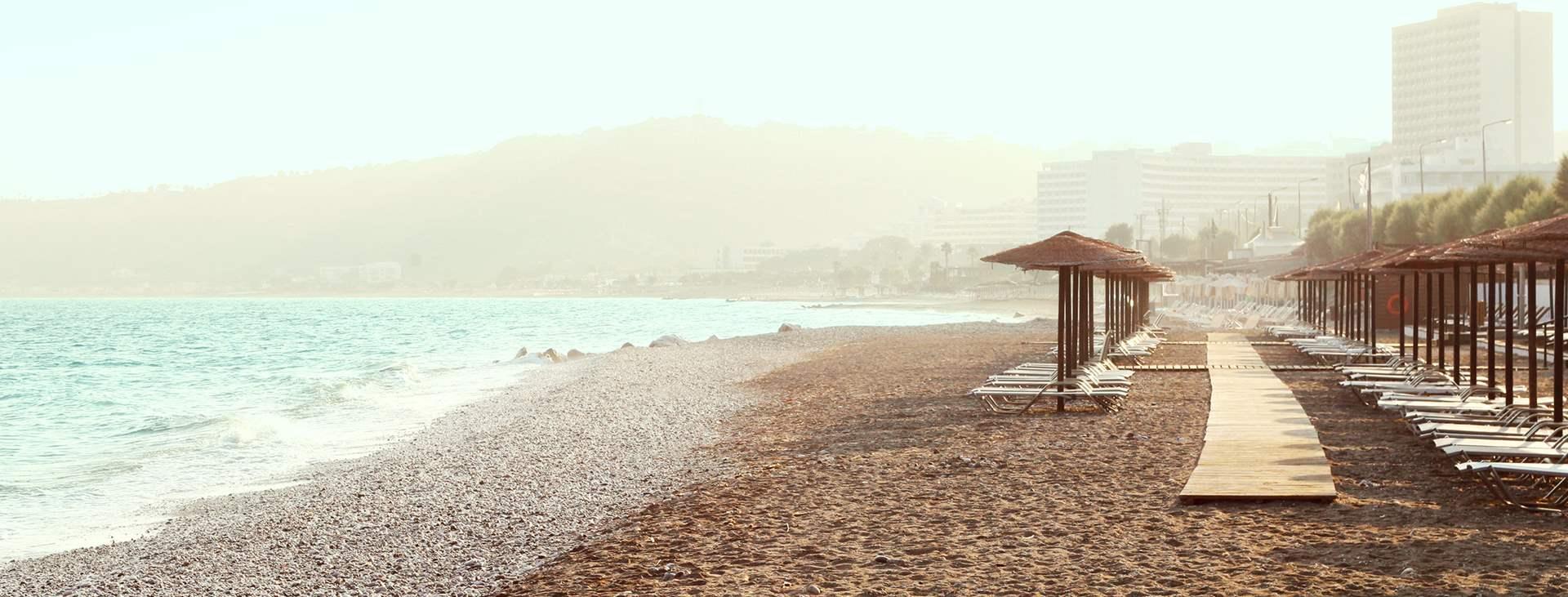 Resor till Rhodos västkust i Grekland