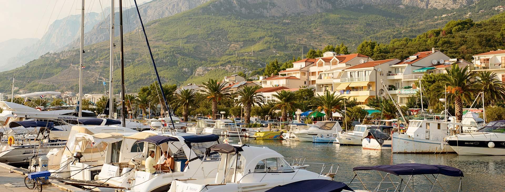Resor till Tucepi på Makarska rivieran i Kroatien