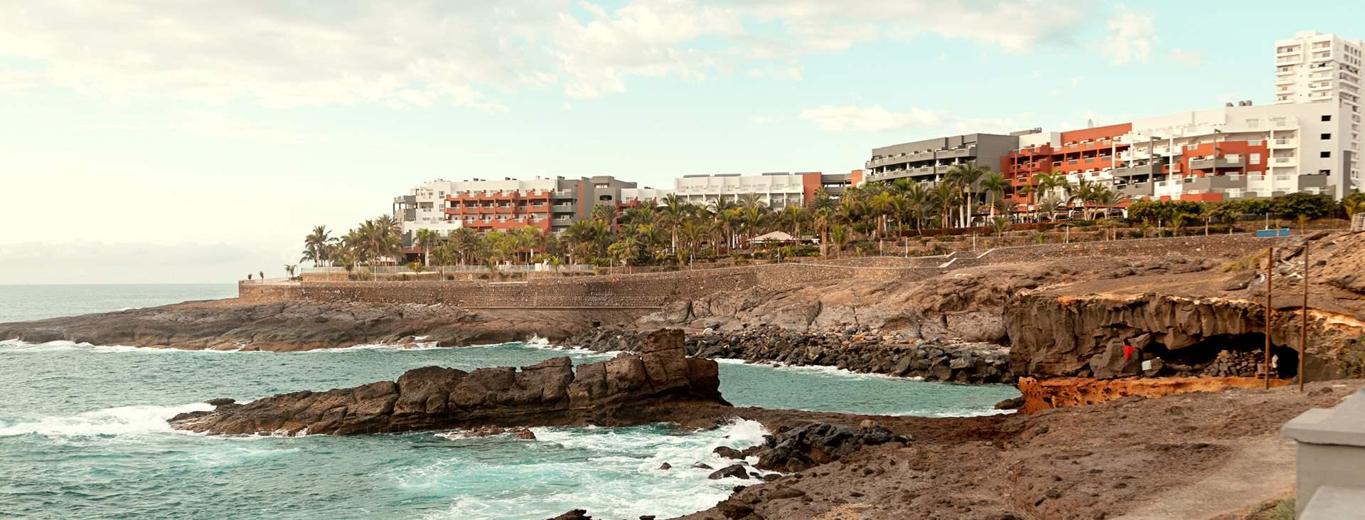 Boka en resa till barnvänliga Playa Paraiso på Teneriffa